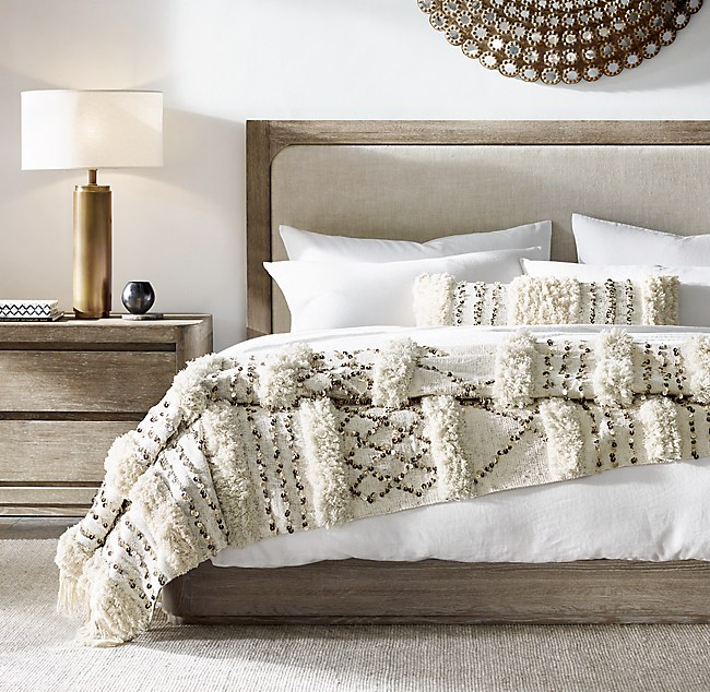 Moroccan Wedding Striped Oversized Bed Throw