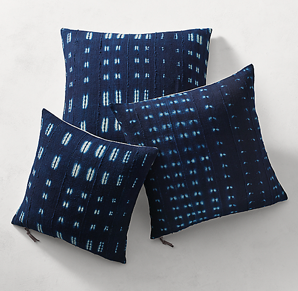 Handcrafted African Indigo Shibori Pillow Cover