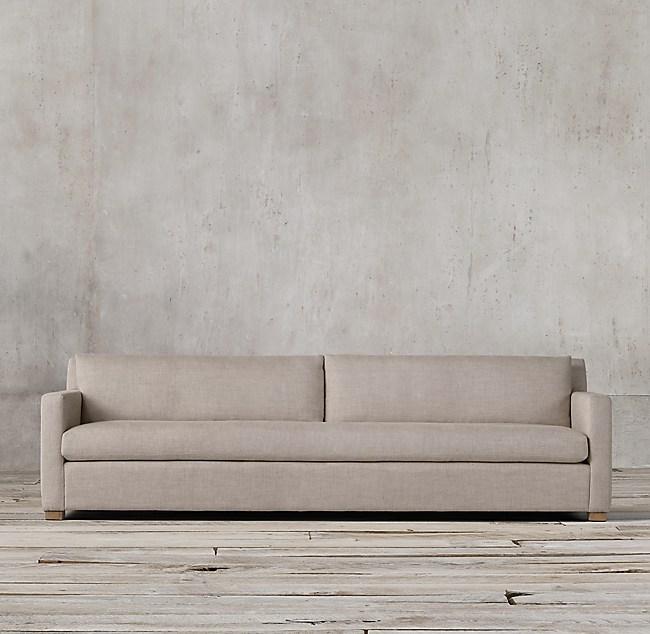 Petite Belgian Track Arm Upholstered Sofa