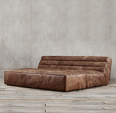 4 Sizes Chelsea Leather Daybed