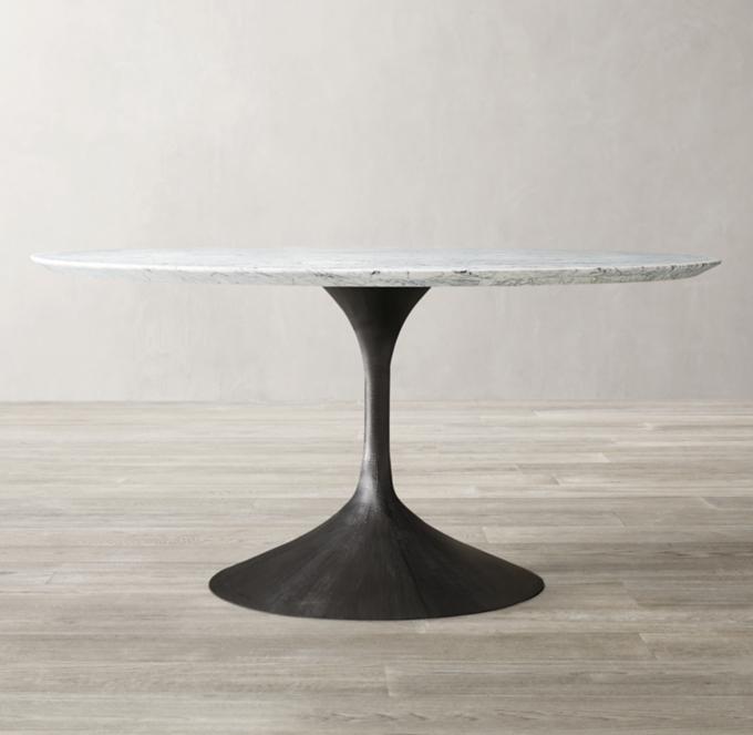 Aero Marble Oval Dining Table RH