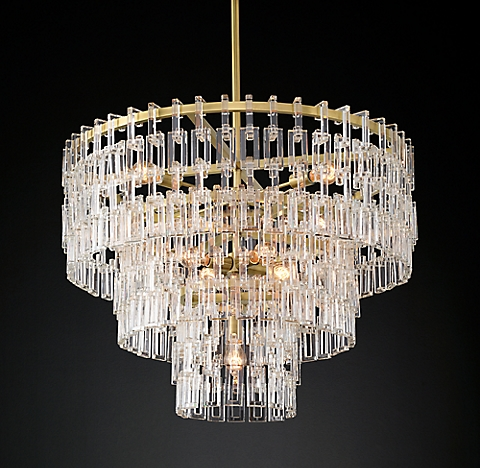 Marignan round chandelier collection rh modern
