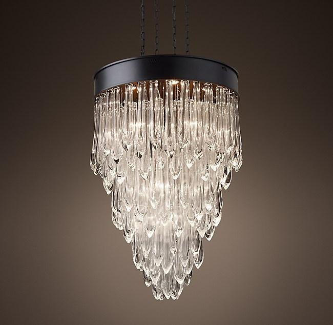 Glass chandelier 32 teardrop glass chandelier 32 mozeypictures Images
