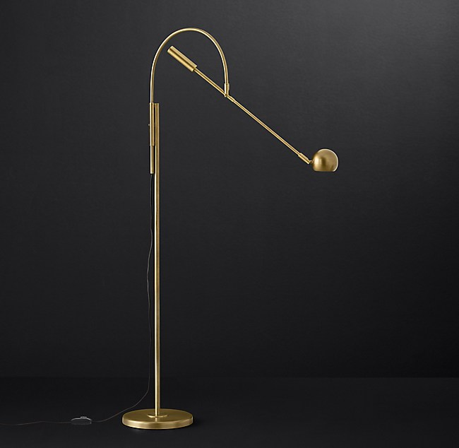 Orbiter ii task floor lamp