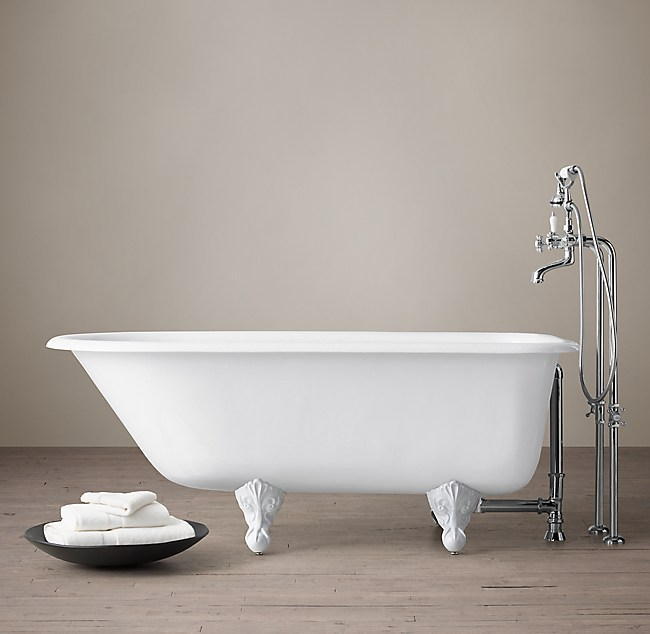 Clic Victorian Clawfoot Tub With Cross Handle Fill