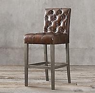Bennett Parsons Leather Stool