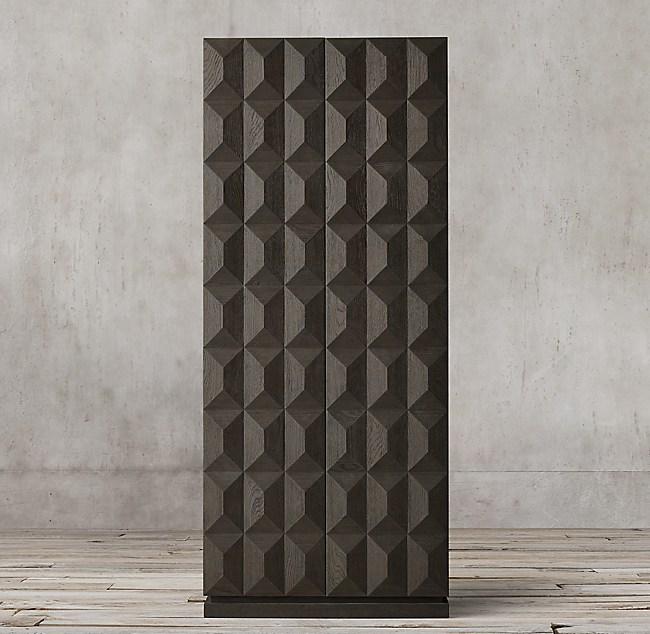 Geometric Double Door Cabinet