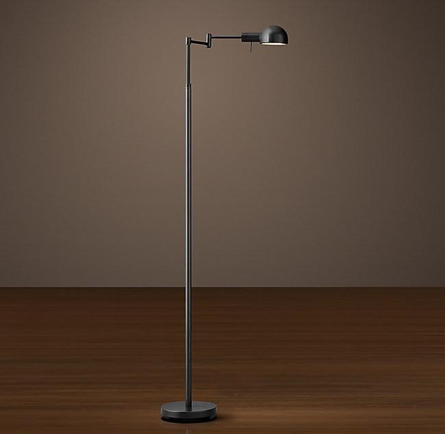 M 233 Tier Dome Shade Task Floor Lamp