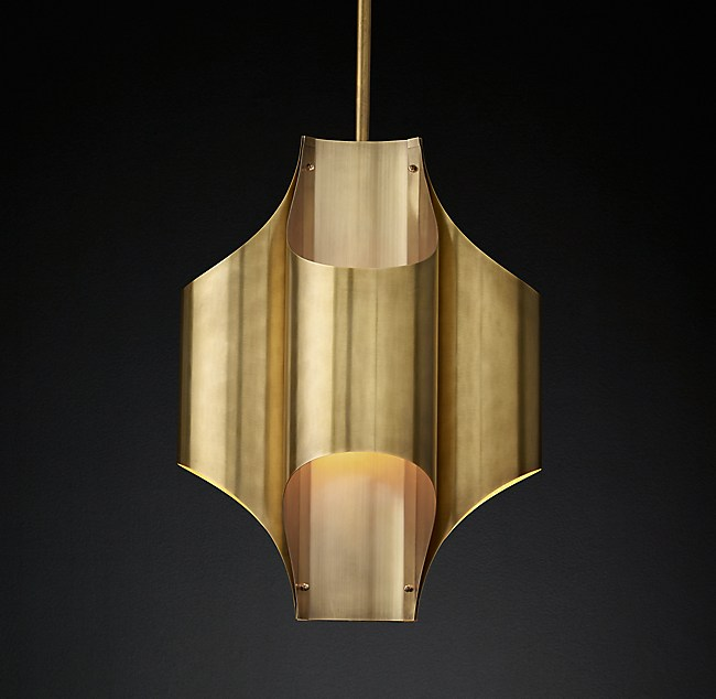 Cathedral brass pendant