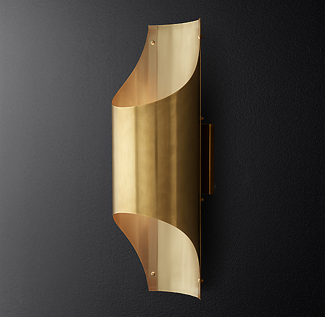 Cathedral brass sconce color preview unavailable