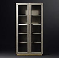 Cela Shagreen Glass Double Door Cabinet