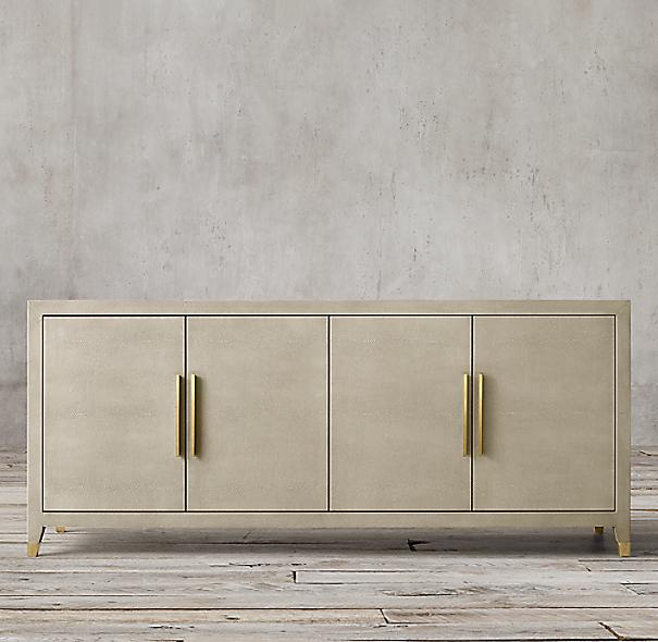Graydon Shagreen Panel 4 Door Sideboard