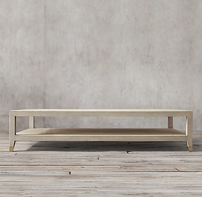 Restoration Hardware Coffee Table.Graydon Shagreen Rectangular Coffee Table