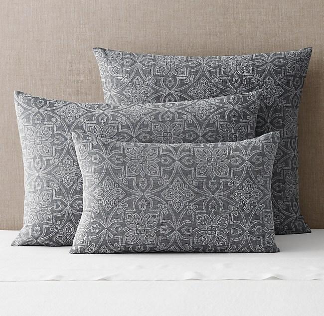 Amal Embroidered Linen Sham