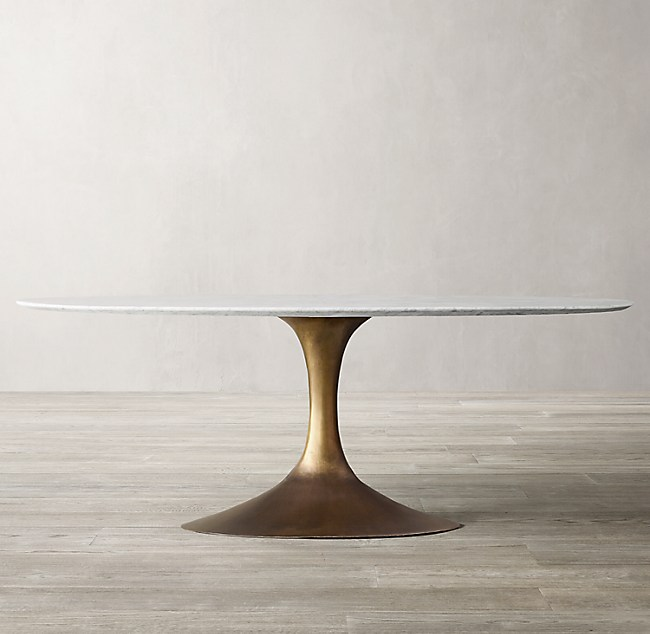 Aero Marble Oval Dining Table