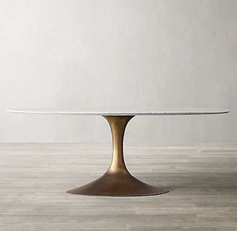 More Sizes Finishes Aero Marble Oval Dining Table