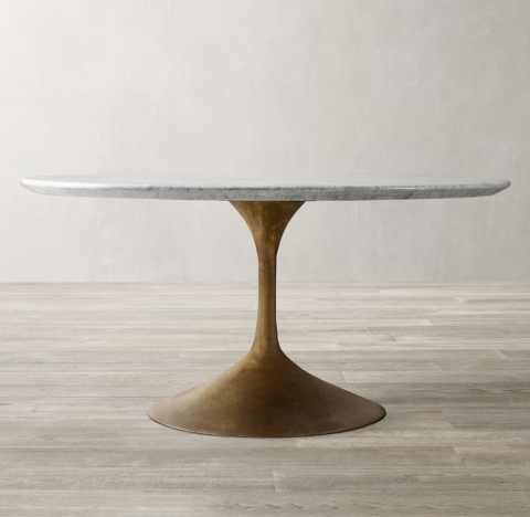 Aero Marble Round Dining Table