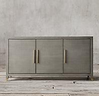 Graydon Shagreen Panel Triple Door Sideboard