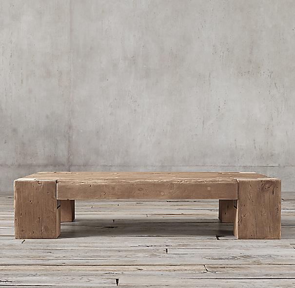 Reclaimed English Beam Rectangular Coffee Table. Click to Zoom - Reclaimed English Beam Rectangular Coffee Table