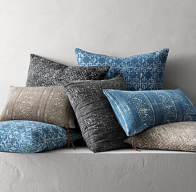 Batik Mud-Resist Pillow Cover