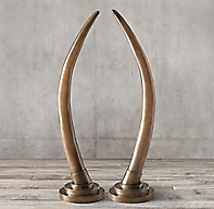 Grand Cast Brass Elephant Tusk Collection