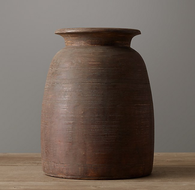 Indian Wood Vessel 16 Grand Vase