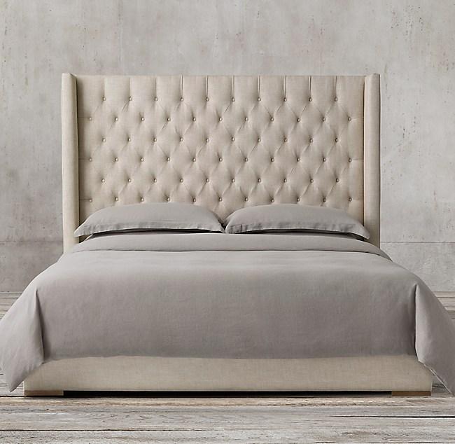 Adler Shelter Diamond Tufted Fabric Bed