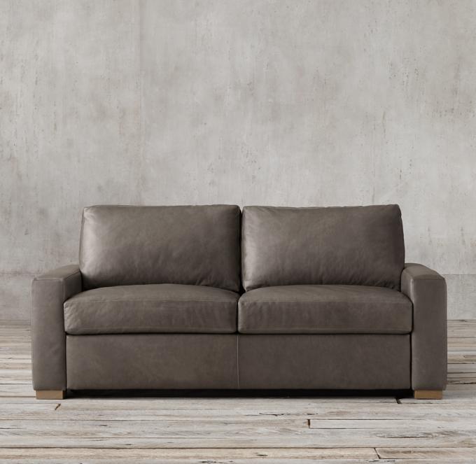 Maxwell Premium Leather Sleeper Sofa