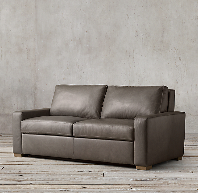 Maxwell Premium Leather Sleeper Sofa