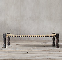 Woven Indian Charpoy Bench - Medium
