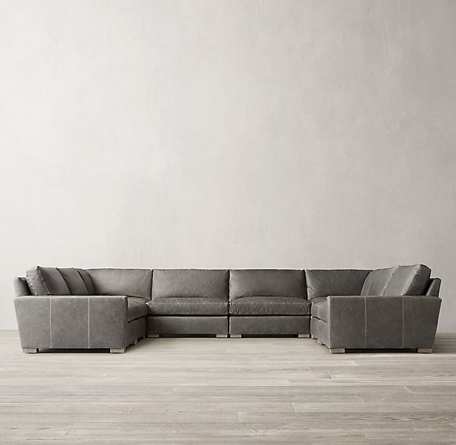 Maxwell Modular Leather U Sofa Sectional