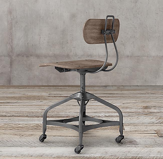 1940s vintage toledo desk chair