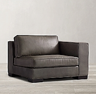 Maddox Modular Leather Right Arm Chair