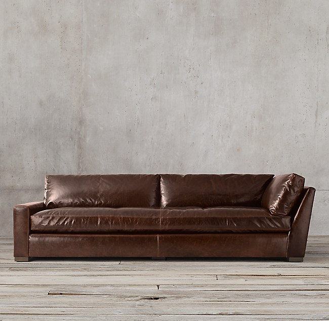 Wondrous Restoration Hardware Petite Maxwell Leather Sofa Sofa Ideas Evergreenethics Interior Chair Design Evergreenethicsorg