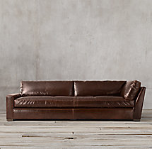 Petite Maxwell Leather Left-Arm Return Sofa