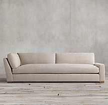 Petite Maxwell Upholstered Right-Arm Return Sofa