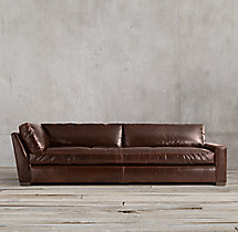 Petite Maxwell Leather Right-Arm Return Sofa