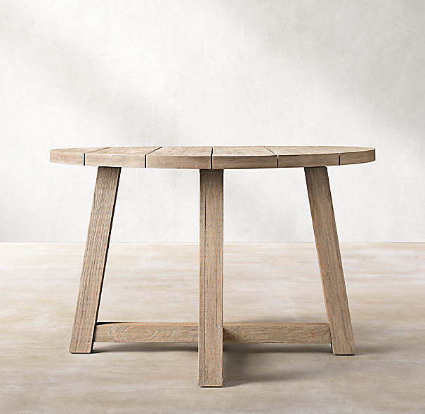 """Rh French Beam Coffee Table: French Beam Teak Round 48"""" Dining Table"""