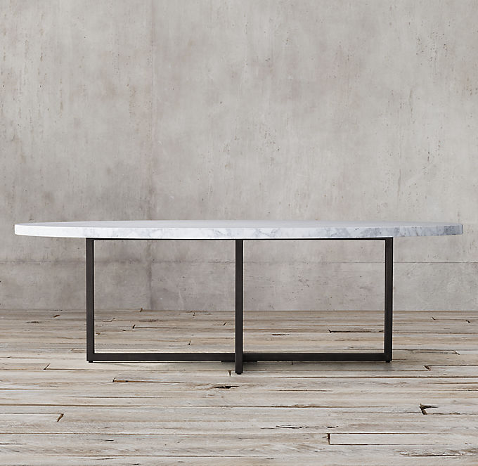 Torano Marble Oval Dining Table Rh