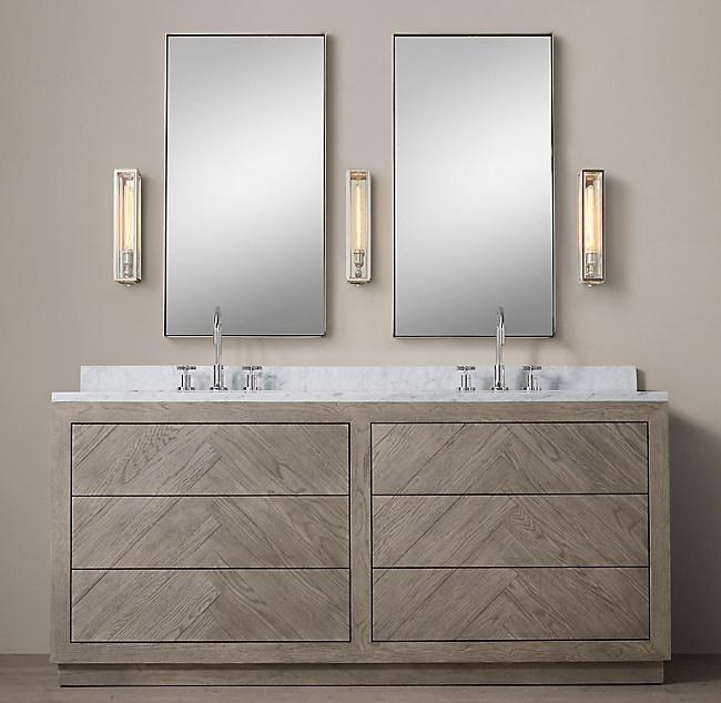 Herringbone Double Vanity