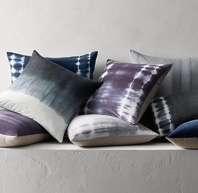Well-liked Hand-Dyed Shibori Velvet Pillow Cover FM23