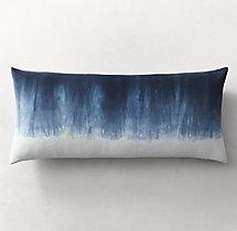 Hand Dyed Shibori Velvet Ombr 233 Pillow Cover Lumbar
