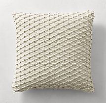 Ben Soleimani Textured Wool Diamond Pillow Cover - Square