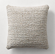 Ben Soleimani Textured Wool Chunky Weave Pillow Cover - Square