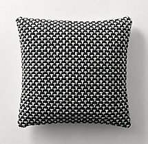 Ben Soleimani Textured Wool Nailhead Pillow Cover - Square