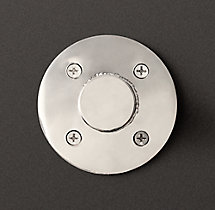 Round Shelf Bracket - Polished Nickel