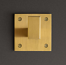 Square Shelf Bracket - Brass Plated