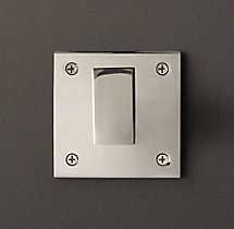Square Shelf Bracket - Polished Nickel