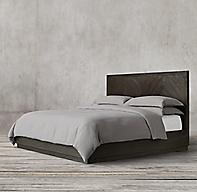 Herringbone Platform Bed