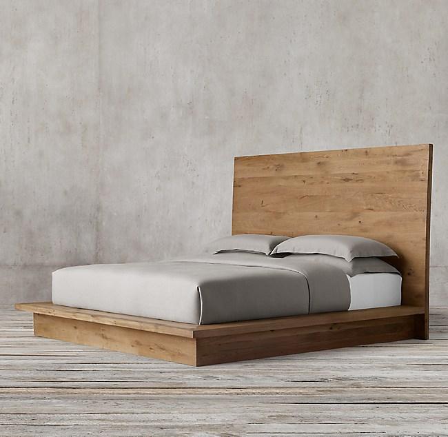 Reclaimed Russian Oak Platform Bed